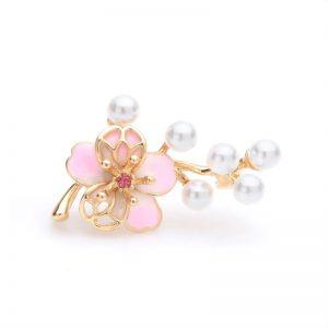 Brosche Kirschblüte Perlen 1