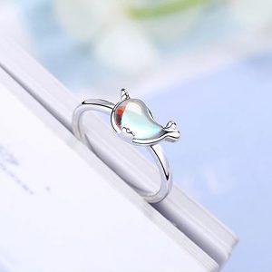 Ring Delphin Einhorn Silber 4